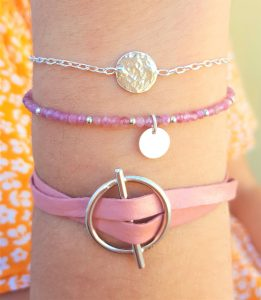 composition bracelets argent