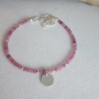 bracelet pierres fines roses